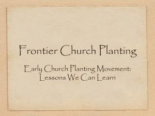 Frontier Church Planting