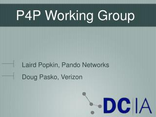 P4P Working Group