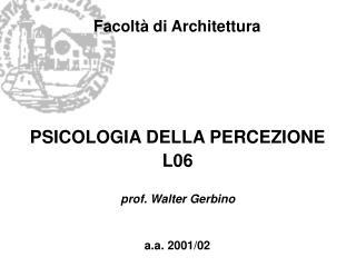 Facoltà di Architettura