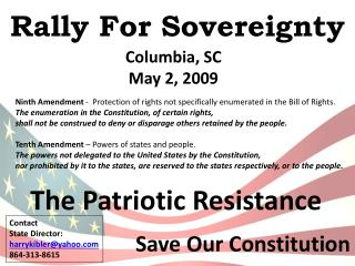 Rally For Sovereignty