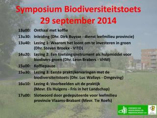 Symposium Biodiversiteitstoets 29 september 2014