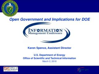 Karen Spence, Assistant Director U.S. Department of Energy
