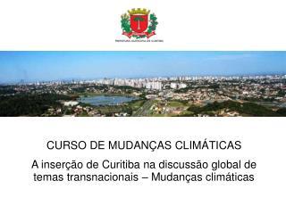 CURSO DE MUDANÇAS CLIMÁTICAS