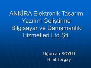 ANKİRA Elektronik Tasarım Yazılım Geliştirme Bilgisayar ve Danışmanlık Hizmetleri Ltd.Şti.