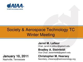 Society & Aerospace Technology TC Winter Meeting