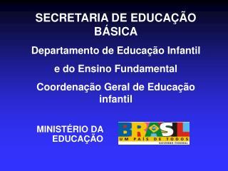 SECRETARIA DE EDUCAÇÃO BÁSICA Departamento de Educação Infantil  e do Ensino Fundamental