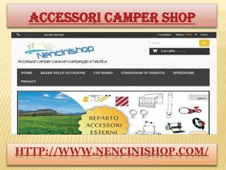 Accessori camper shop