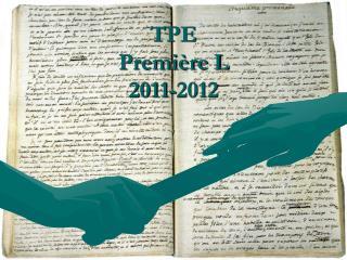 TPE Première L 2011-2012
