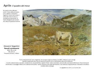 Giovanni Segantini  Pascoli a primavera 1896- olio su tela  98 x 155 cm