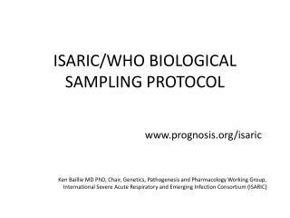 ISARIC/WHO BIOLOGICAL SAMPLING PROTOCOL