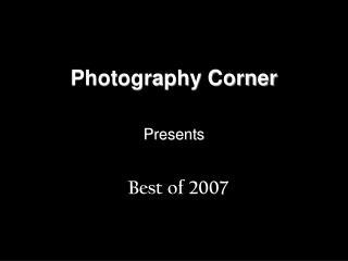 Photography Corner