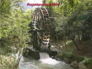 Wasserräder  in der Umgebung Vogt´s und wie sie früher genutzt wurden