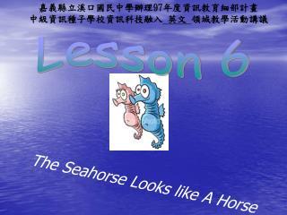 The Seahorse Looks like A Horse