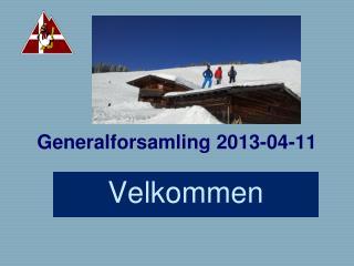 Generalforsamling 2013-04-11
