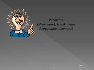 Penalaran (Reasoning), Hakikat dan Penggunaan akuntansi