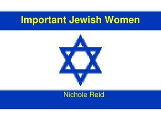 Important Jewish Women