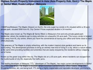Highest Return Property Investment In Asia (Asia Property Hu