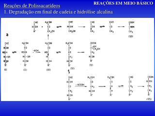 Reações de Polissacarídeos 1. Degradação em final de cadeia e hidrólise alcalina