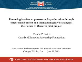 Removing barriers to post-secondary education through career ...