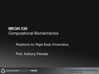 MEGN 536 Computational Biomechanics