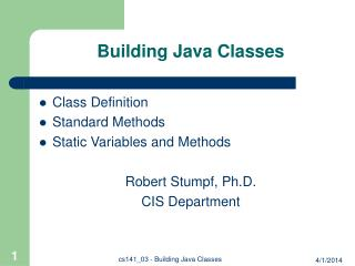 Building Java Classes