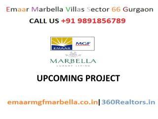 9891856789//SEC66 Emaar Marbella Villas Gurgaon