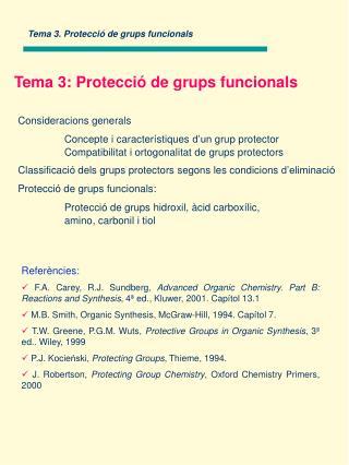 Tema 3. Protecció de grups funcionals