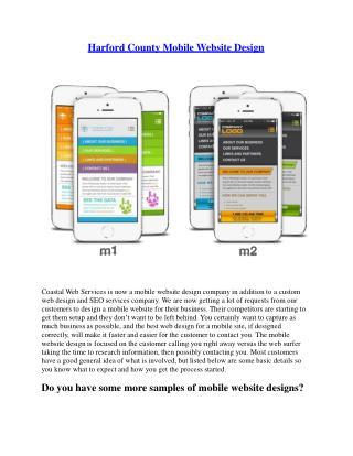Harford County Mobile Website Design - Coastalwebservices