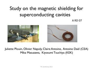 Study on the magnetic shielding for superconducting cavities