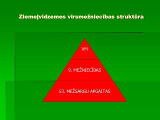 Ziemeļvidzemes virsmežniecības struktūra