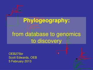 Phylogeography: from database to genomics  to discovery