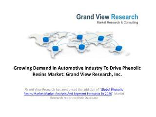 Global Phenolic Resins Market Size To 2020