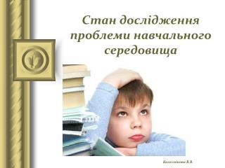 Стан дослідження проблеми навчального середовища