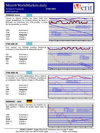 Merit@WorldMarkets.daily Technical Comment            27 / 01/2003          ank@merit.gr