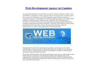 Web Development Agency in Camden
