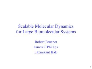 Scalable Molecular Dynamics for Large Biomolecular Systems