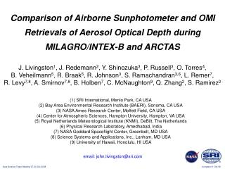 Comparison of Airborne Sunphotometer and OMI Retrievals of Aerosol Optical Depth during MILAGRO