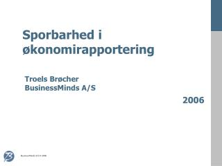 Sporbarhed i  økonomirapportering