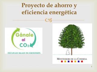 Proyecto de ahorro y eficiencia energética