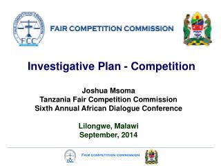 Investigative Plan - Competition
