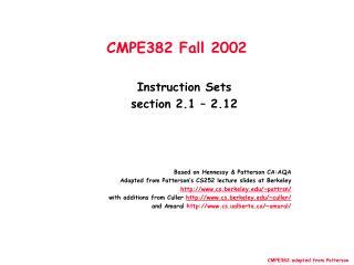 CMPE382 Fall 2002