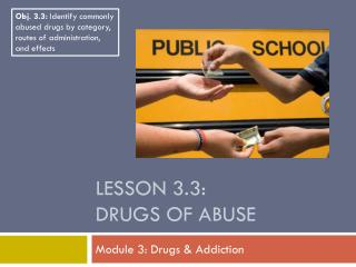 Lesson 3.3: Drugs of Abuse