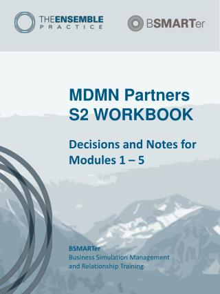 MDMN Partners S2 WORKBOOK