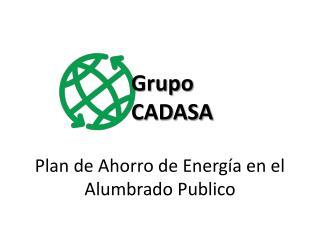 Plan de Ahorro de Energía en el Alumbrado Publico