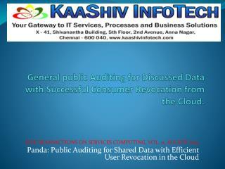 Panda: Public Auditing for Shared Data