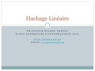 Hachage Linéaire