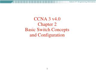 CCNA 3 v4.0 Chapter 2 Basic Switch Concepts and Configuration
