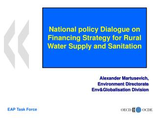 National policy Dialogue on Financing Strategy for Rural Water Supply and Sanitation