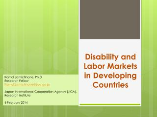 Disability and Labor Markets in Developing Countries