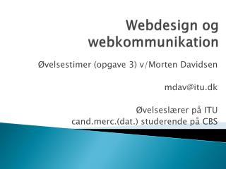 Webdesign og webkommunikation